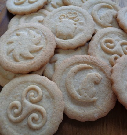 Shortbread cookies with cookie stamps from Kitchenwands